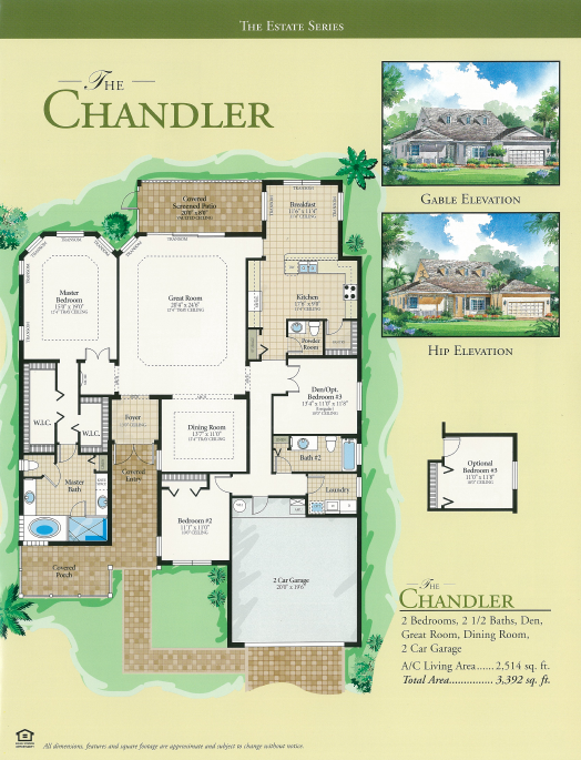 The Chandler floor plan - Cascades at River Hall